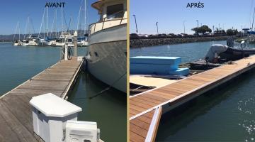 Emery Cove Yacht Harbor en plein travaux!